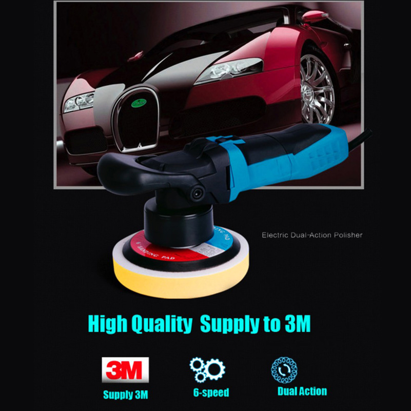 8mm throw 600w Dual Action Random Orbital Polisher Car Boat Motorbike c/w 3 pad