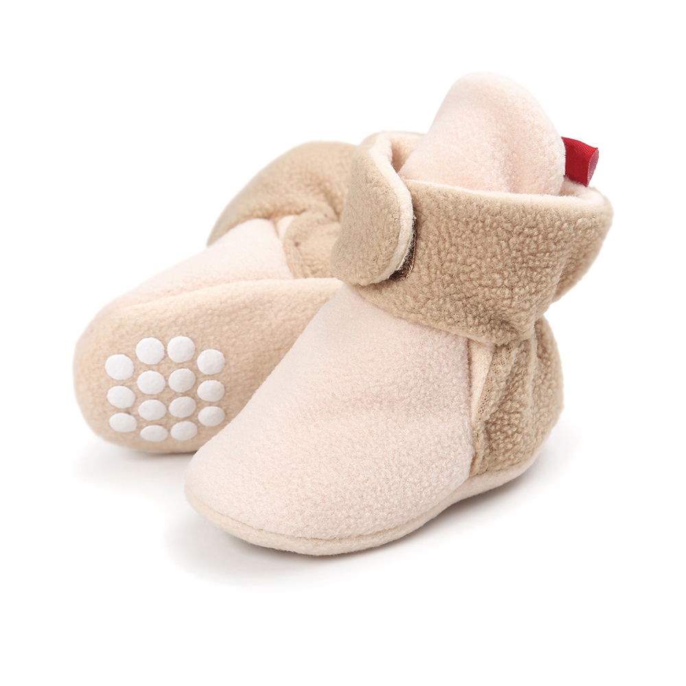 Unisex Newborn Baby Winter Crib Shoes Faux Fleece Skid-Proof Baby Toddler Booties Unisex  Infant Bebe Snow Boots