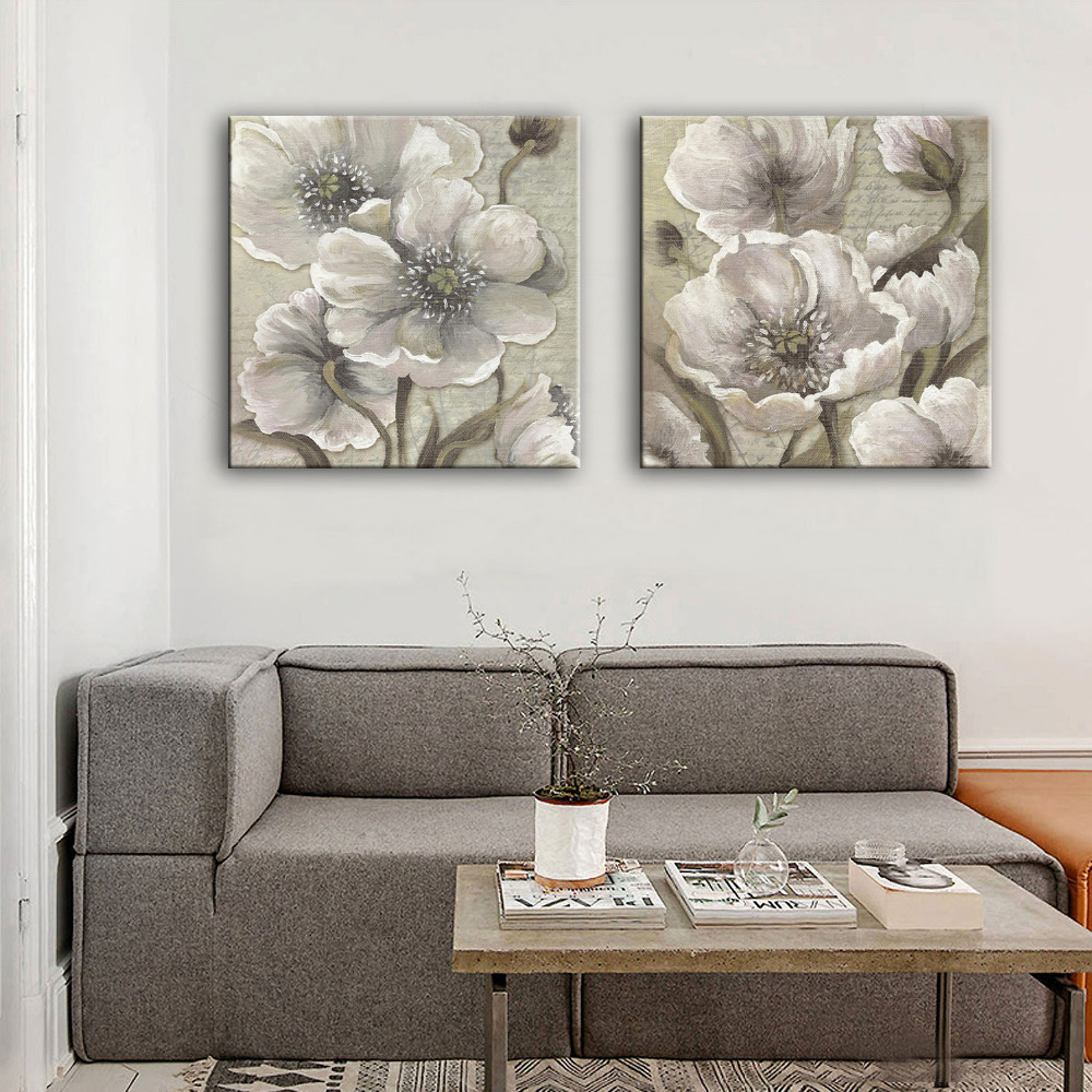 MINI SIZE Free Shipping Hand Painting Oil Painting <font><b>Elegant</b></font> Flowers Decoration Painting One Pcs <font><b>Home</b></font> <font><b>Decor</b></font> Modern Wall Prints