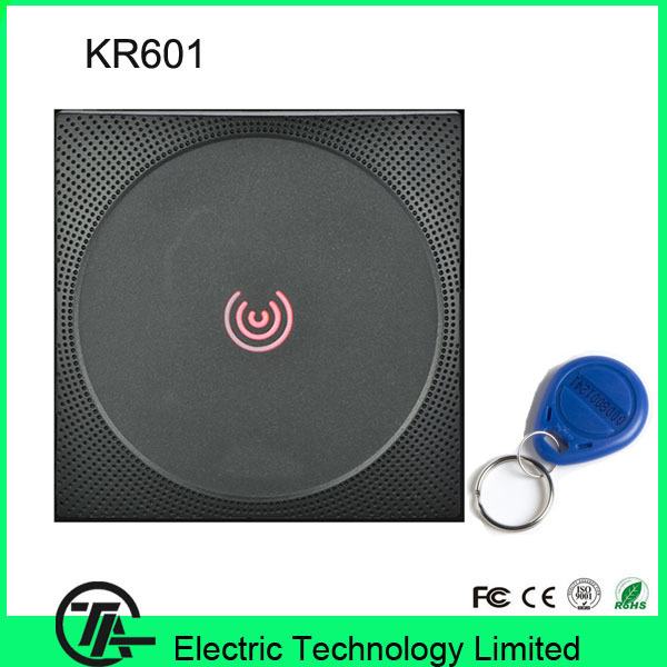 Red and Green LEDs card reader KR601 Wiegand access control system RFID card reader  IP65 waterproof smart card reader