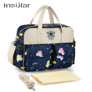 Image 3 - Insular New Style Waterproof Diaper Bag Large Capacity Messenger Travel Bag Multifunctional Maternity Mother Baby Stroller Bags