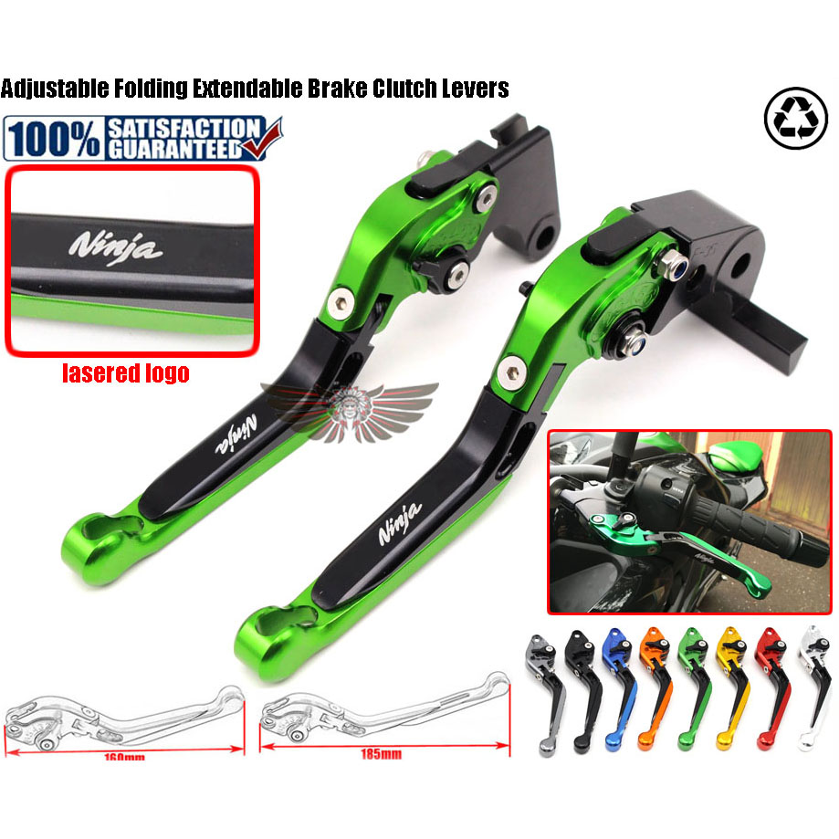 For Kawasaki NINJA 650R (ER-6f ER6n) 2006 2007 2008 Motorcycle Accessories Adjustable Folding Extendable Brake Clutch Levers