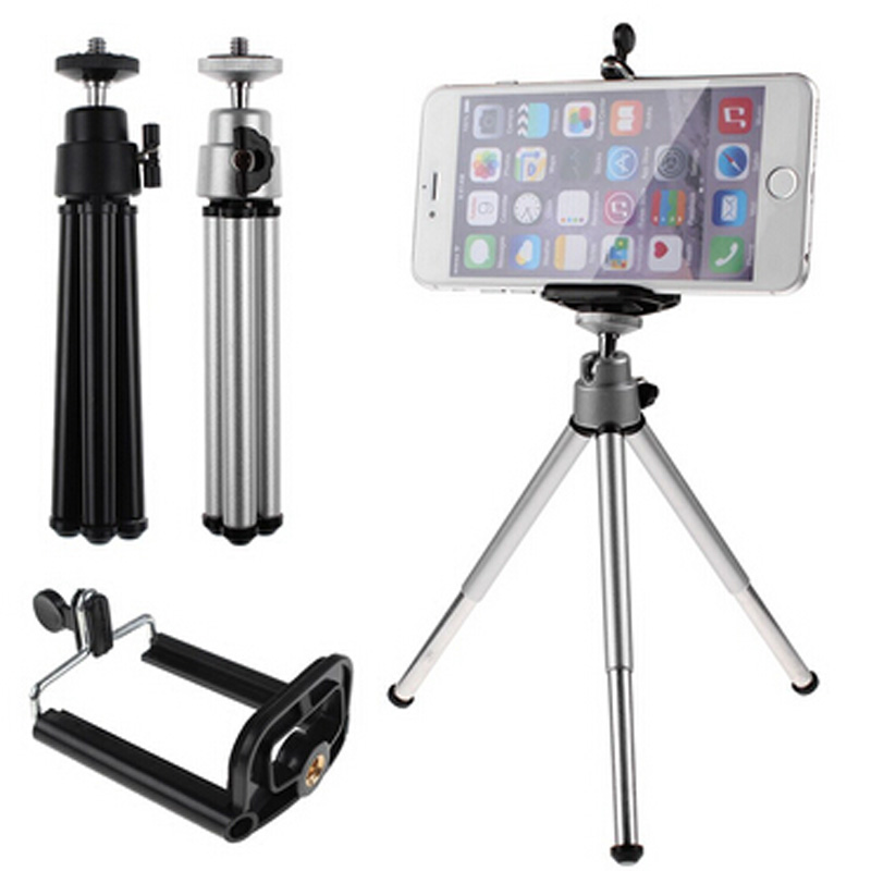 Mini 360 Degree Rotating Stand Tripod Mount With Phone Holder Portable Selfie Camera Adjusted Freely Tripod For Telescope Camera