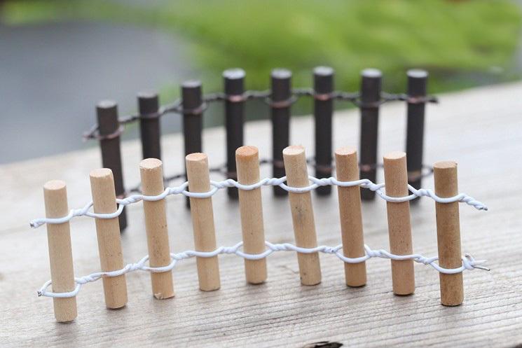 sale 20 unids valla de madera en rollobargnomo de jardn
