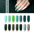 BELLE FILLE UV Gel Nail Polish 10ml UV LED Nail Gel dark green Color Lacquer Gelpolish Varnish Professional fingernail Polish