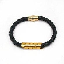 D&D European Fashion Punk Women Leather Bracelets Men Personality Exaggerated Wrap Bracelet Wide Jewelry