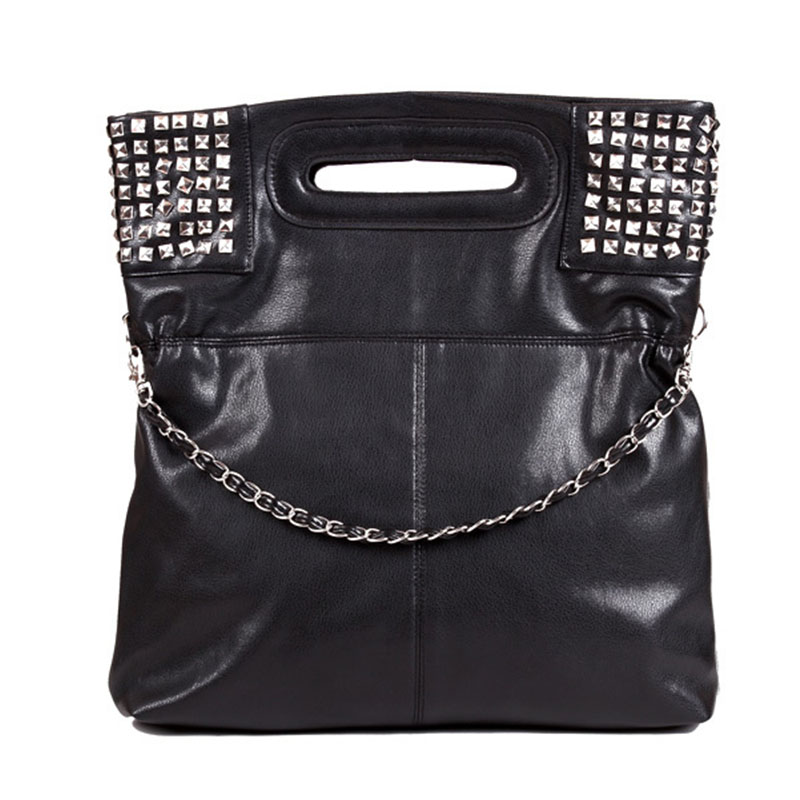 2017 Hot Sale New Fashion PU Leather Women Handbag Shoulder Bags Messenger Ladies Crossbody Rivet Bolsas Femininas Black/White