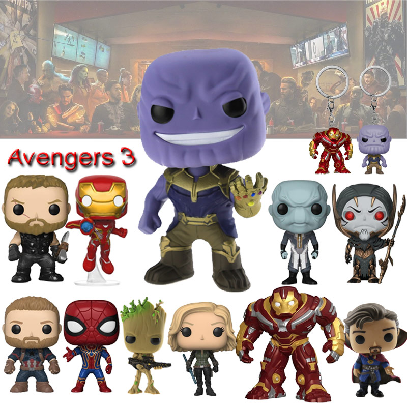 Avengers 3 Infinity War Thanos Action Figure Model Toys Thor Iron Man Spiderman Captain America Black Panther Vinyl Doll Toys