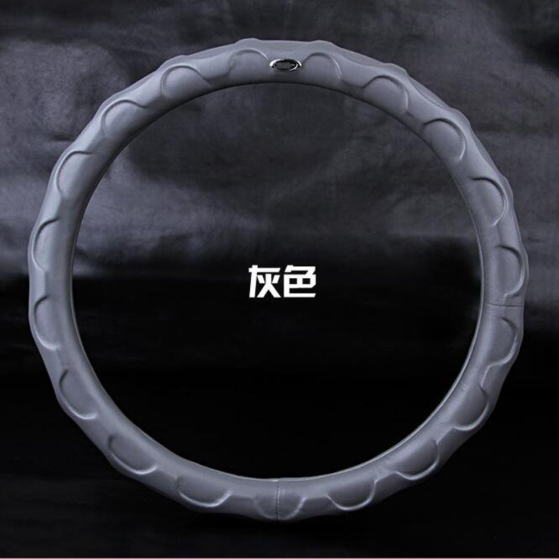 New Sheepskin Steering Wheel Cover Fit For 36cm Steering Cover Sleeve Super Soft Four Seasons Universal Car Model Accessories