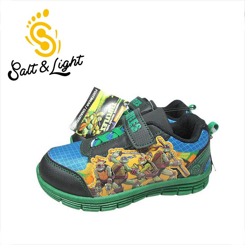 JUSTSL breathable mesh fashion sneakers green <font><b>running</b></font> <font><b>shoes</b></font> Teenage Mutant Ninja Turtles 2017 New spring summer boys
