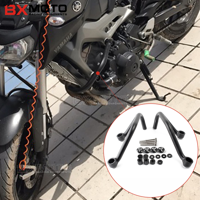 accessories motorcycle frame slider engine bumper guard crash bars protector steel for yamaha mt 09 - Motorcycle Frame