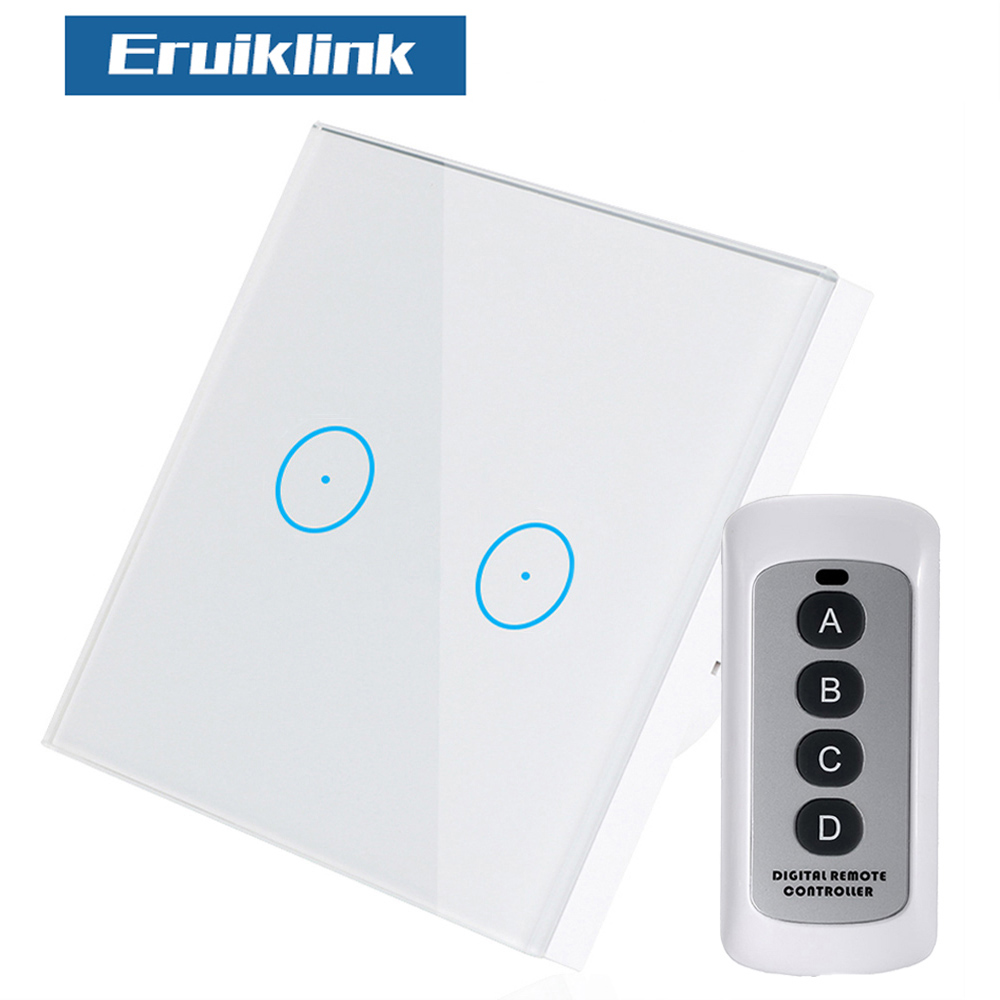 EU/UK Standard 2Gang 1Way Wireless Remote Control Light Switches, Wall Light Touch Switch, Remote Control Switch For Smart Home male masturbator cup artificial vagina pussy virgin mini lifelike pocket pussy sucking masturbation cup adult sex toys b2 1 20