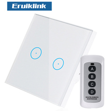 EU/UK Standard 2Gang 1Way Wireless Remote Control Light Switches, Wall Light Touch Switch, Remote Control Switch For Smart Home цена в Москве и Питере
