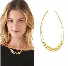 Wholesale Gold-Color Choker Necklace Short Design Punk Chain Necklaces Simple Fashion Jewelry for Women Free Shipping