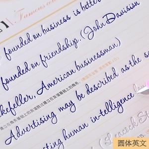 Image 2 - جديد وصول 3 قطعة/المجموعة الإنجليزية الخط الدفتر للأطفال الأطفال الكتابة جميلة الإنجليزية بسرعة تمارين الخط الكتب