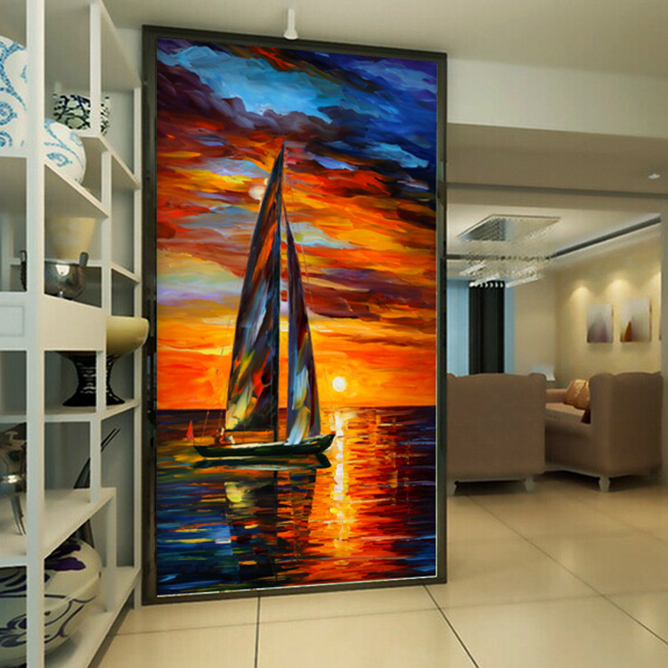 Free Shipping sea scenery wallpaper coffee restaurant hotel bar lounge sofa living room TV background sailboat wallpaper mural  free shipping cartoon pattern wallpaper leisure bar ktv lounge living room sofa children room background comics wallpaper mural