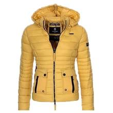 0720074b728 ZOGAA S-3XL Women s Cotton Parkas Coats Puffer Jacket Parka Women Fashion  Slim Fit Solid