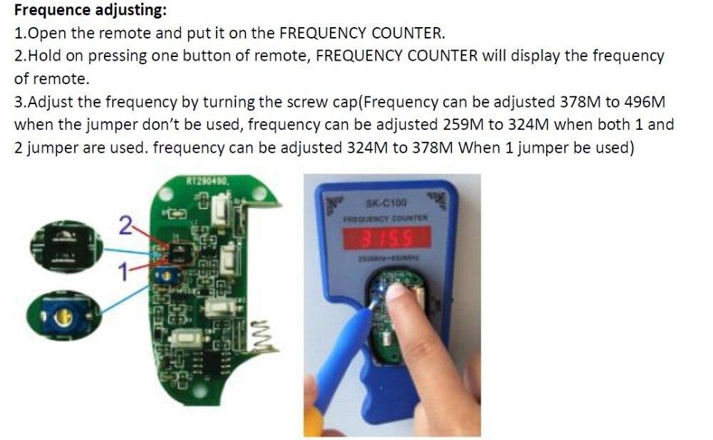 303 МГц/330 м/315 МГц/433 м Регулируемая частота дублирующий код пульт дистанционного управления для гаражных дверей YET045-315