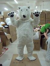 Прямая продажа с фабрики Polar Bear Маскоты костюм для взрослых Размеры Polar Bear Маскоты костюм Бесплатная доставка