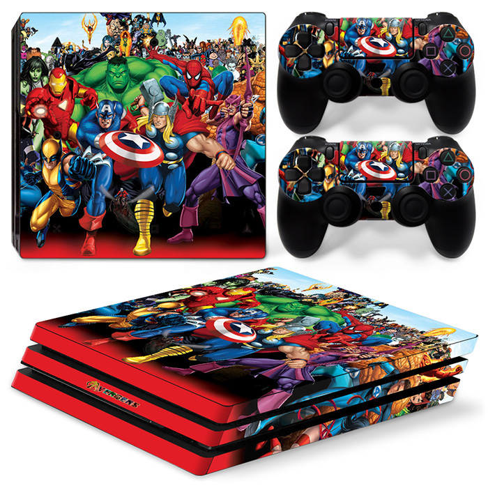 Marvels The Avengers factory made OEM skin sticker for PS4 PRO console decal