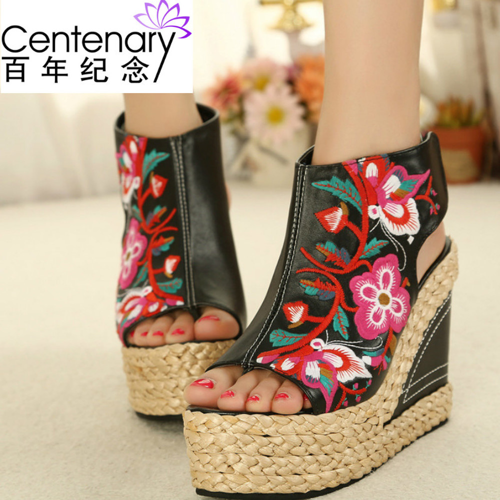 Cociy Women Summer Ankle Strap Cover Heel Peep Toe Hot Cake Party White Sandals Lady