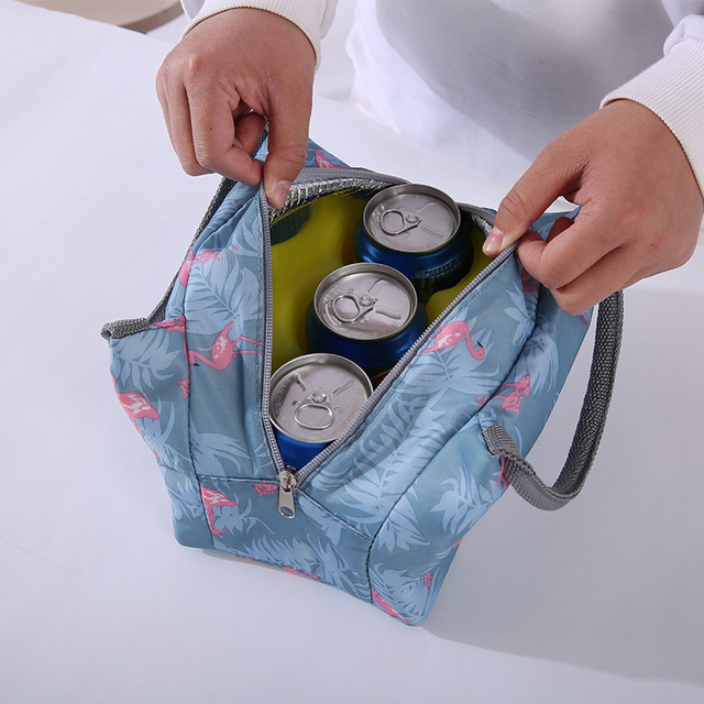 Lunch Bags Women Portable Functional Canvas Stripe Insulated Thermal Food Picnic Kids Cooler Lunch Box