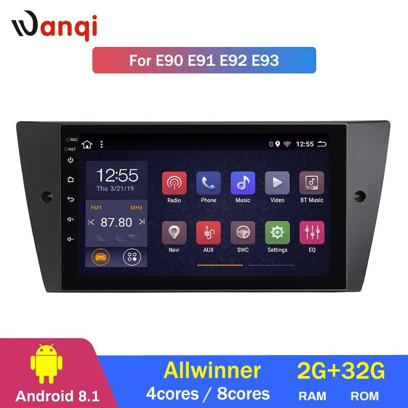 2G RAM 32G ROM 9 pouces GPS Android 8.1 unité de tête de voiture DVD pour BMW E90 E91 E92 E93 2005-2012 Navigation GPS