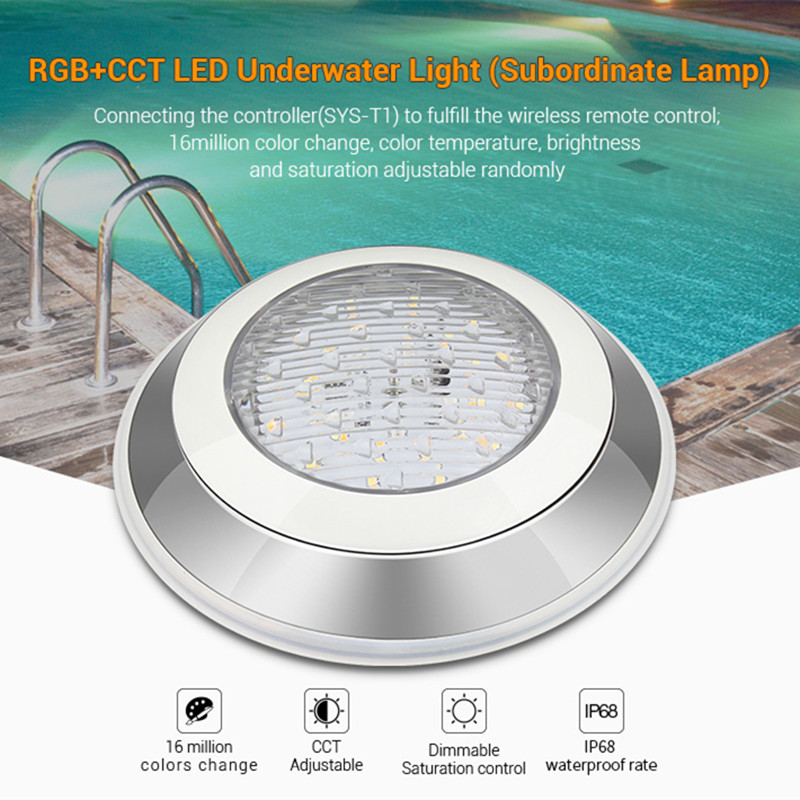 Audacious Waterproof Milight Dimmable 24v Wifi Controller Remote Control Ip68 12w Rgb+cct Led Underwater Light Subordinate Lamp Phone App Careful Calculation And Strict Budgeting Led Underwater Lights Led Lamps