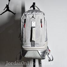 Jordan Retro 11 Sport Bags Men and Women PU Leather Bookbag Climbing Laptop  Bag Sport-Backpack Grey Color Good quality Bag fdc90a4b6ec7a