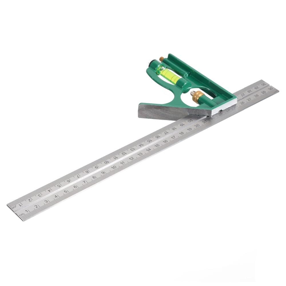 Bescheiden Multi-funcational 300mm Kombination Platz Winkel Winkelmesser 45/90 Grad Winkel Lineal Mess Werkzeuge Hohe Qualität Mayitr Eine GroßE Auswahl An Modellen Werkzeuge