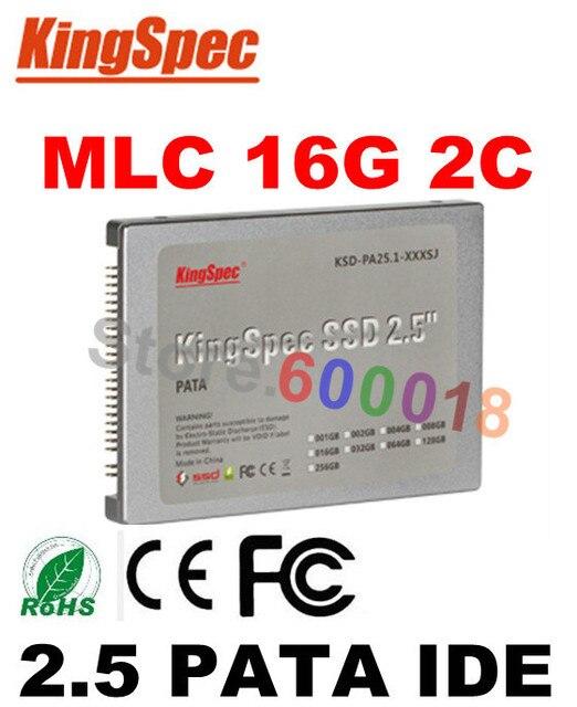 L Kingspec 2.5 Дюймов 44PIN PATA IDE SSD 16 ГБ 2-C Твердых State Disk Flash Жесткий Диск Для HP компьютер диск внутренний жесткий диски