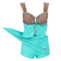 Plus Size Swimwear 2018 New Arrival Dress One Piece Swimsuit Large Size Retro Swimming Suit For