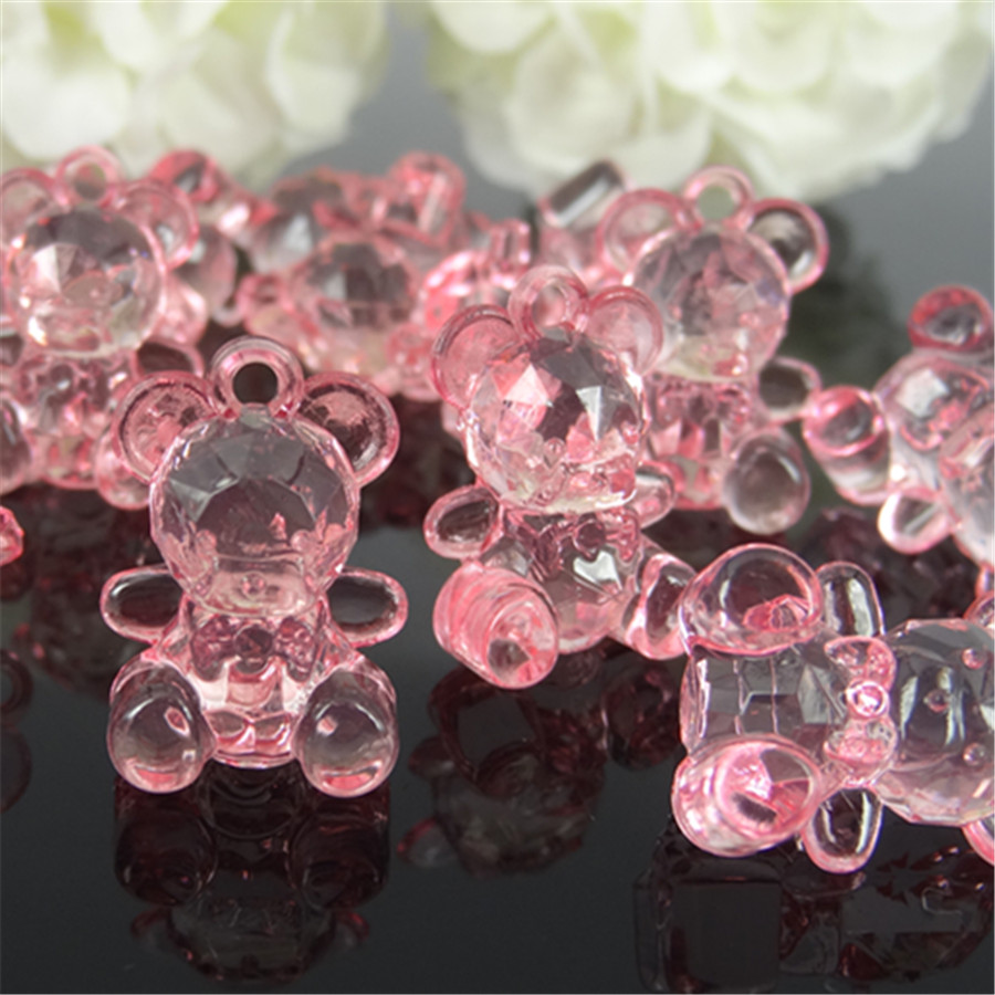 100pcs Mini Acrylic Cute Bear Baby Shower Favor For Table Game Craft Party Decorations 14 x 19mm ...