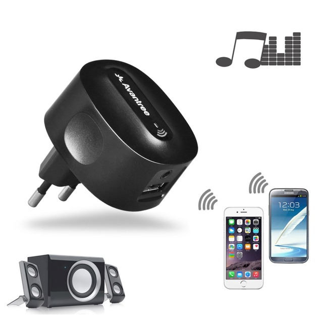 Avantree Bluetooth Audio Reciever with Extra USB Charging Port High Sound Quality Support 2 device Easy to Use - Roxabasic