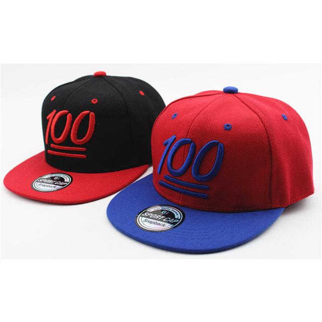 Mode Enfants Casquette de Baseball Bande Dessinée cent Chapeau Quatre Saisons Applicable Beau Str-Dance Hip Hop Cap Pour Enfants garçon Filles