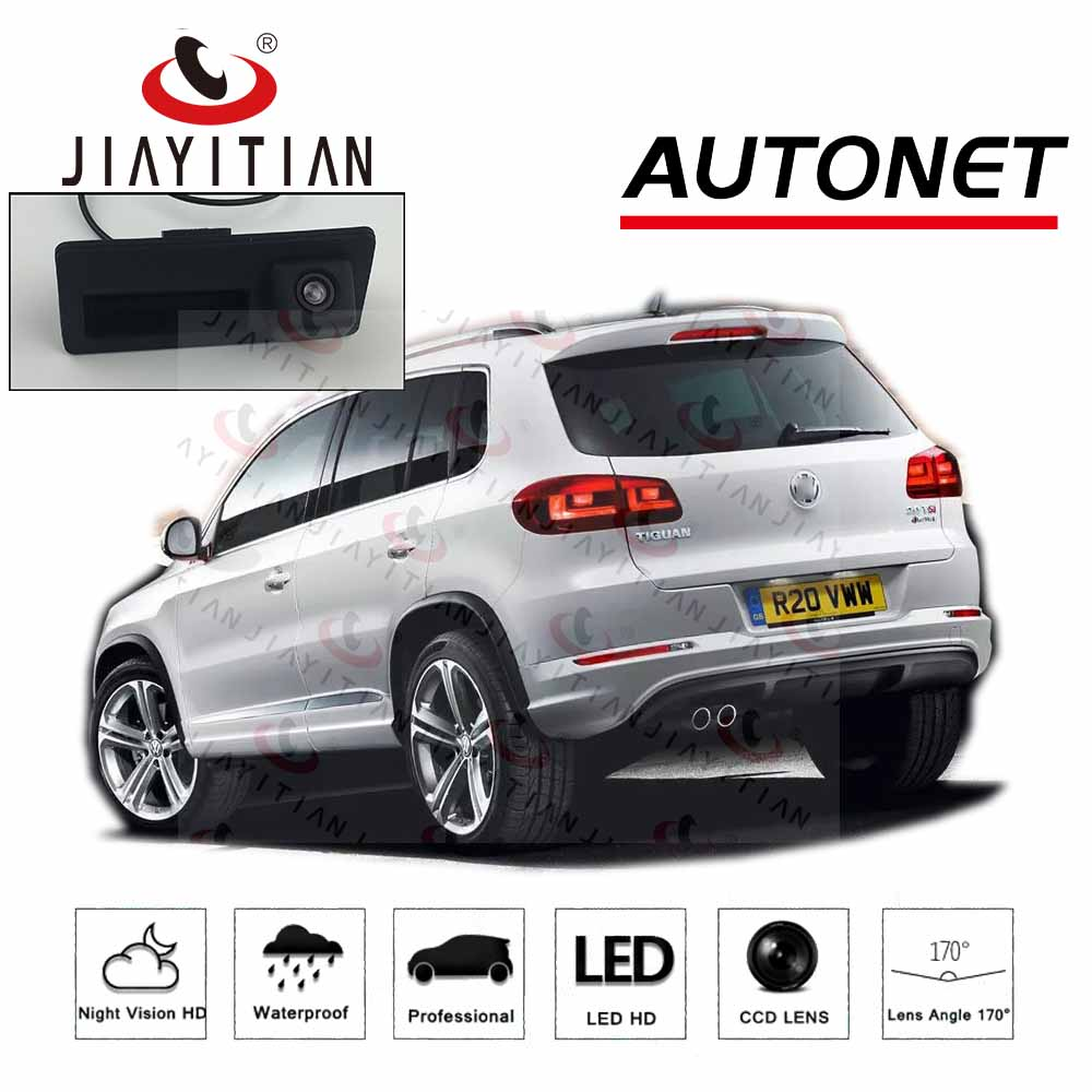 JIAYITIAN Car Trunk Handle Camera For Volkswagen Tiguan B7 Vw 2011 2012 2013 2014 2015 2016 CCD Rear View Camera Backup Camera