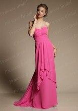 Free Shipping Grecian Style Discount Sheath Sweetheart Pleated Floor Length Chiffon Modest Bridesmaid Dresses BD053