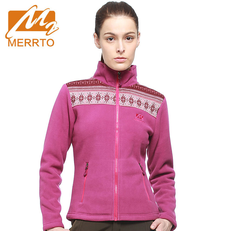 Merrto Womens Outdoor Fleece Hiking Jackets Windproof Thermal Mountain Clothing For Women Keep Warm Multifunctional Sportswear 2017 merrto womens fleece hiking jackets mountain clothing thermal color blue pink rose green for women free shipping mt19155