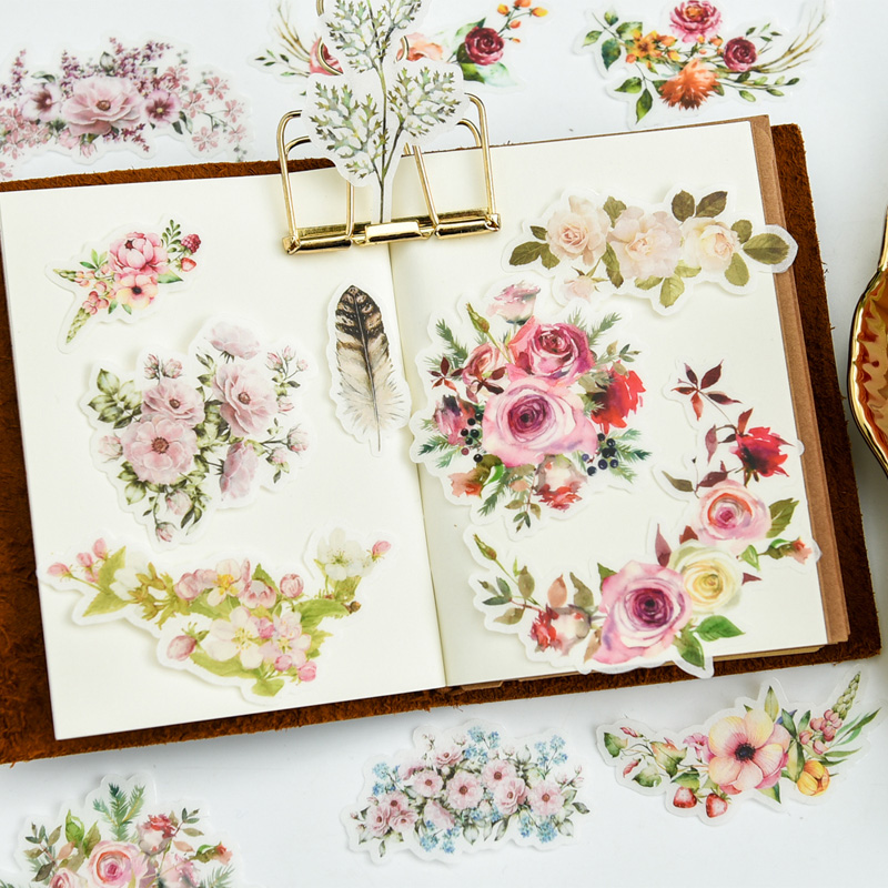 aliexpress com   buy vyutxa 90pcs colorful flower vellum paper stickers for scrapbooking happy