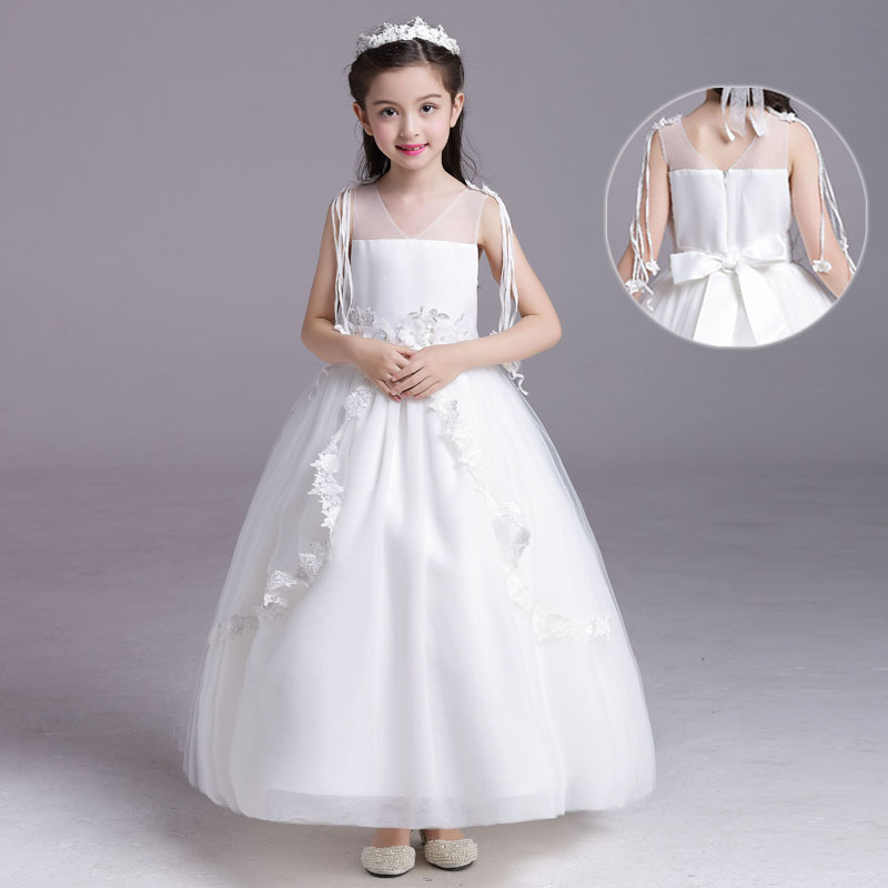 Baby Flower Girls Dresses For Party And Wedding Pageant Clothes 2017 Formal Teenage Girl Princess Dress Little Girls Clothing toddler girl princess dress flower kids dresses for baby girls clothes dresses for party and wedding clothing 13 color choose