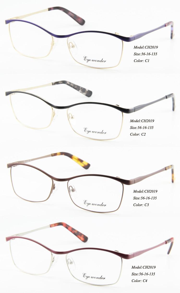 ᗑOjo maravilla mujeres Flex moda metal diseñador óptico gafas ...