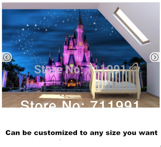 Custom Children Wall Paper Fairy Tale Castle Murals For Childrenu0027s Bedroom  Wall Wallpaper Background 3D PVC