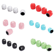 Car Accessories Sparkling rhinestones Tire Cap Auto Valve Stem Caps Diamond Shining Dustproof 4pcs/set