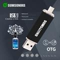 SUMSONIKO Phone USB Flash Drive 10 Colors High Speed USB 2.0 OTG Pen Drive Custom Gift USB Key Flash Memory Stick Free Shipping