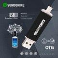 SUMSONIKO Teléfono USB Flash Drive 10 Colores de Alta Velocidad USB 2.0 OTG Pen Drive de Encargo del Regalo Llave USB de Memoria Flash Stick Envío gratis