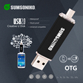SUMSONIKO Telefone USB Flash Drive 10 Cores de Alta Velocidade USB 2.0 OTG Pen Drive Presente Personalizado Chave USB Flash Memory Stick Livre grátis