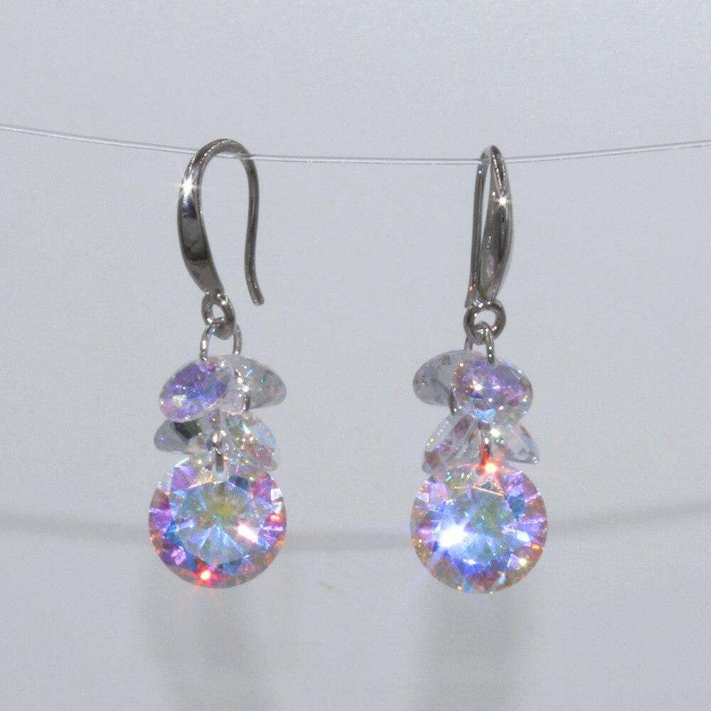 Купить лидер продаж 2018 модные серьги с кристаллами в семи цветах