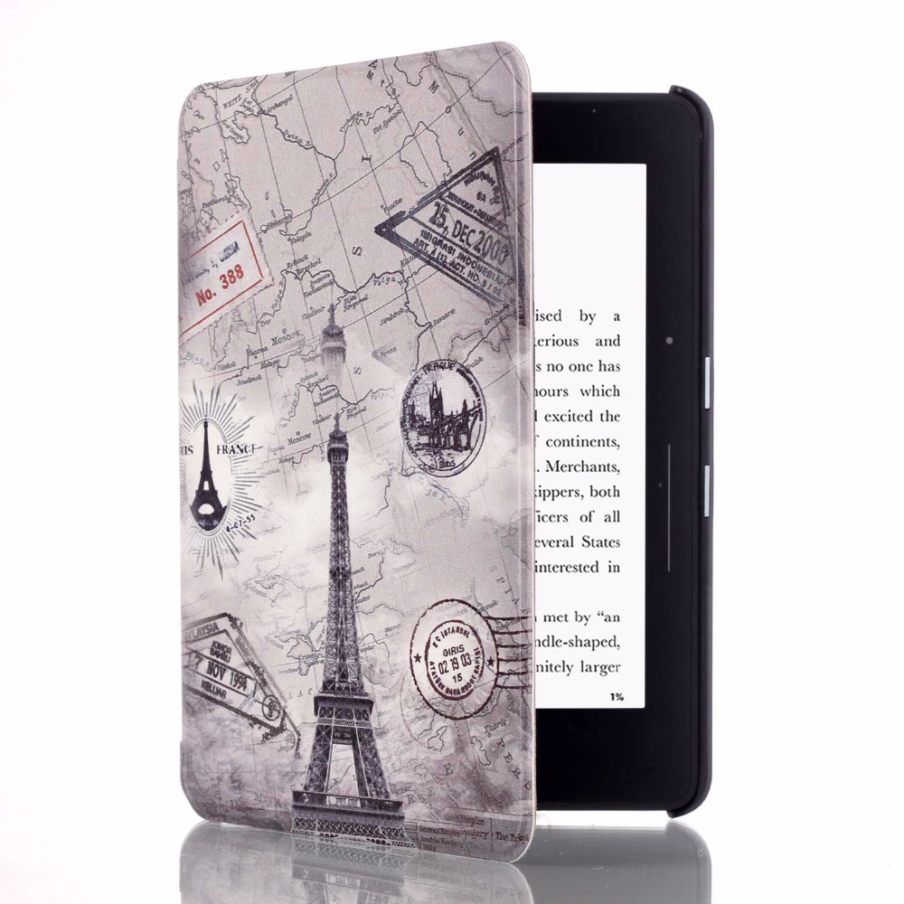 Case for Amazon Kindle Voyage e-Books Slim Painted Smart Cover Auto Wake PU Leather Case for Amazon Kindle Voyage 2014 6 inch cartoon painted flower owl for kindle paperwhite 1 2 3 case flip bracket stand pu cover for amazon kindle paperwhite 1 2 3 case