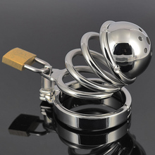 short CB6000S metal male chastity device chastity belt Stainless steel cage sex toy CB Bondage cock lock