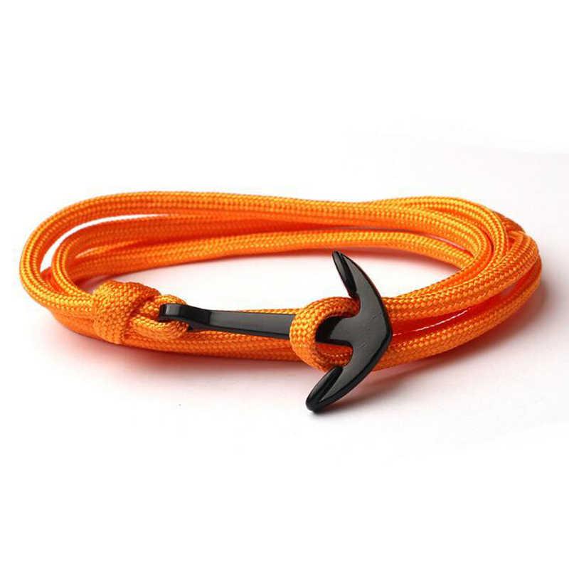 NIUYITID ręcznie robiona bransoletka dla kobiet moda męska nowa kotwica akcesoria do bransoletki biżuteria męska Homme 14 kolorów drop shipping